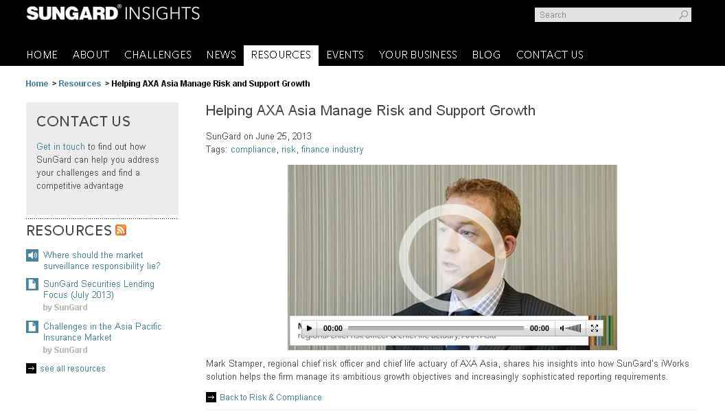 2013-06-25 – Sungard Video Interview Shooting