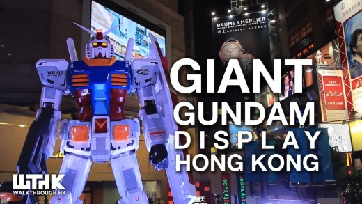 Gundam displayed at Times Square Causeway Bay July 2013