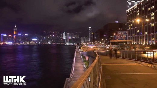 Victoria Harbour and Tsim Sha Tsui Night time Timelapse